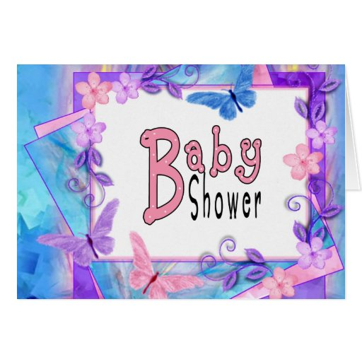 forever butterflies-Baby Shower Card