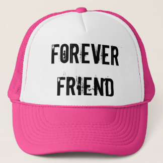 FOREVER FRIEND TRUCKER HAT PINK