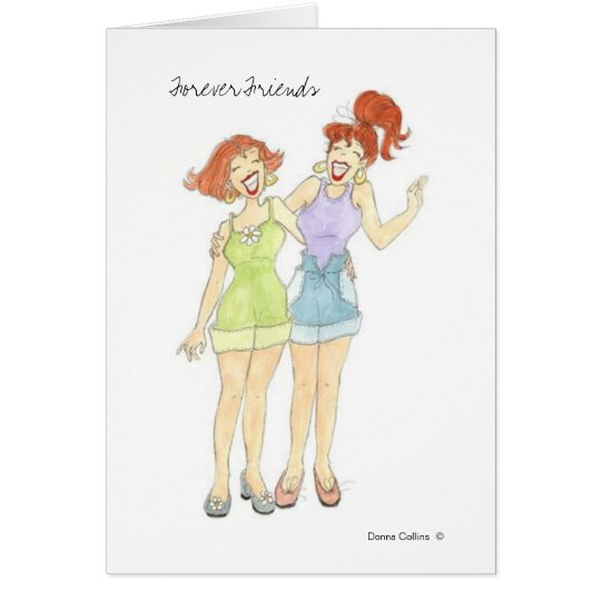 Forever Friends Note Blank Card