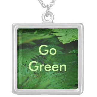 Forever Green Square Pendant Necklace