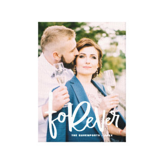 Forever Hand Lettered | Wedding Photo Canvas Print