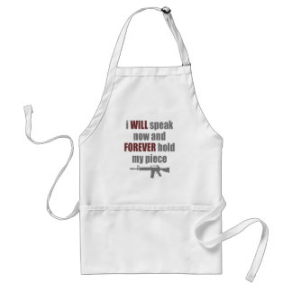 Forever Hold My Piece Standard Apron