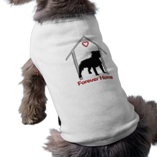 Forever Home Black Pitbull Logo Sleeveless Dog Shirt