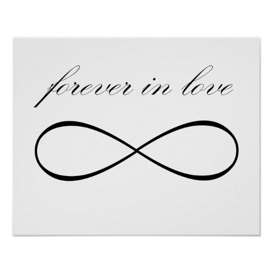 Forever in love infinity symbol print poster