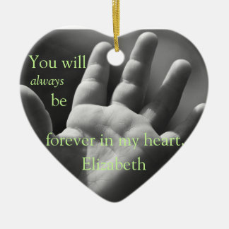 Forever in My Heart, Customized Christmas Ornament
