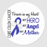 Forever In My Heart Mother Colon Cancer Round Sticker