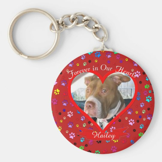 Forever In Our Hearts Pet Memorial Key Ring