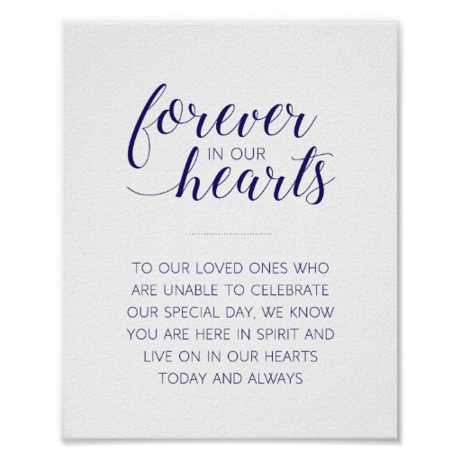 Forever In Our Hearts Wedding - Navy -