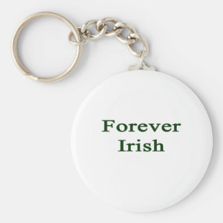 Forever Irish Basic Round Button Key Ring