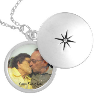 Forever Kind of Love Round Locket Necklace