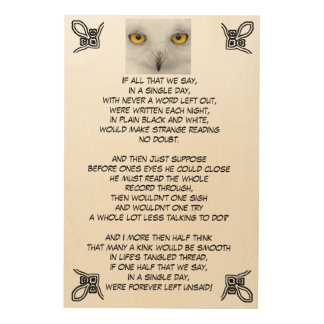 FOREVER LEFT UNSAID wood plaque Wood Prints