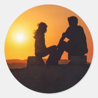 Forever Love Joy Friendship Forever Sunset Stickers