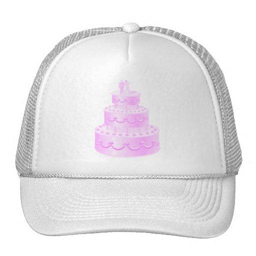 Forever Love Pink Wedding Cake Hat
