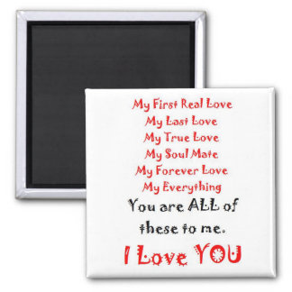 Forever Love Poem Square Magnet