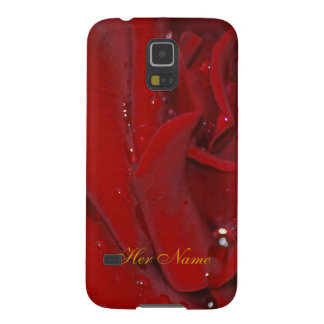 Forever Love Raindrop Rose Cases For Galaxy S5