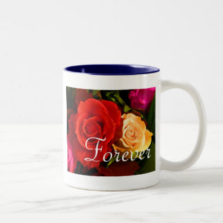Forever Love Red Yellow Rose Mugs