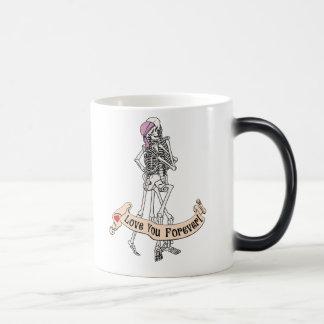 Forever Love Skeletons Morphing Mug
