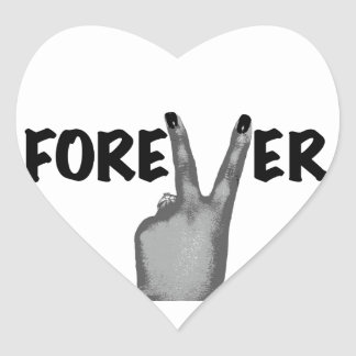 Forever Love Heart Stickers
