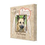 Forever Loved Angel Wings Pet Sympathy Custom Canvas Prints