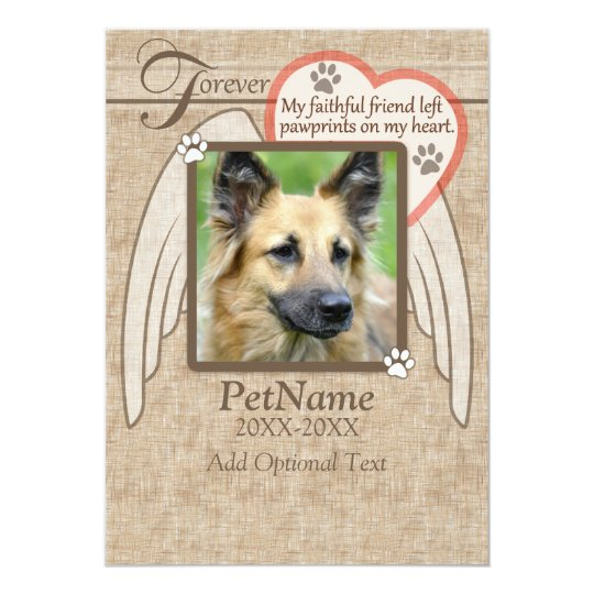 Forever Loved Angel Wings Pet Sympathy Custom Card