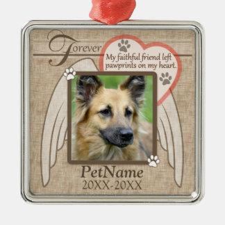 Forever Loved Angel Wings Pet Sympathy Custom Christmas Ornament