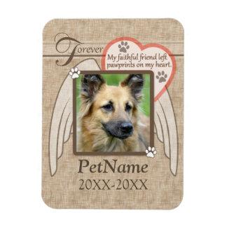 Forever Loved Angel Wings Pet Sympathy Custom Flexible Magnet