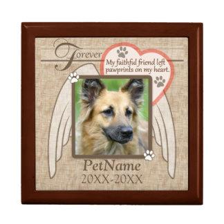 Forever Loved Angel Wings Pet Sympathy Custom Gift Box