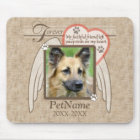 Forever Loved Angel Wings Pet Sympathy Custom Mouse Mat