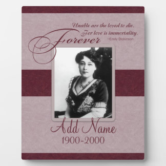 Forever Loved Custom Memorial Plaque
