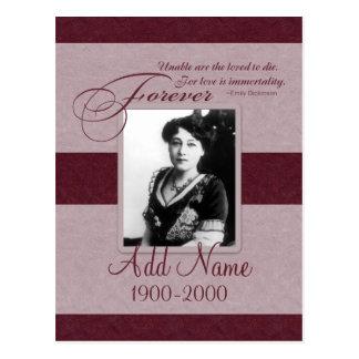 Forever Loved Custom Memorial Postcard
