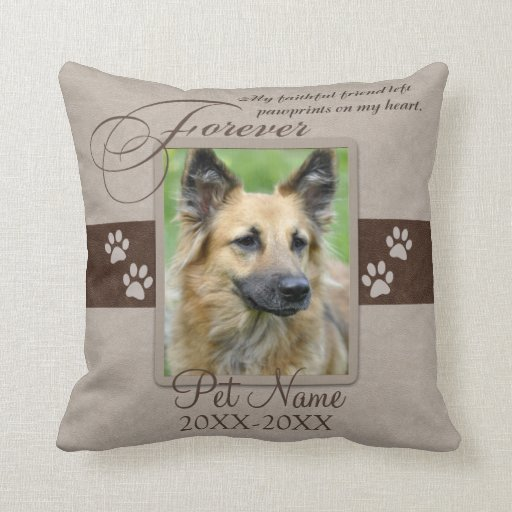 Forever Loved Pet Sympathy Custom Throw Pillows