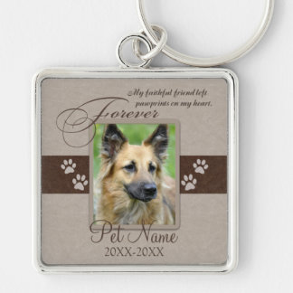 Forever Loved Pet Sympathy Key Ring
