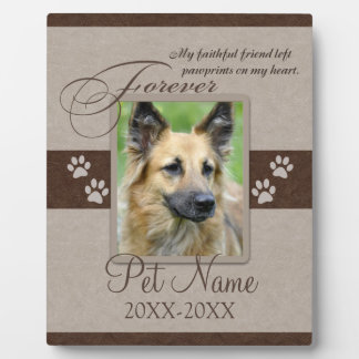 Forever Loved Pet Sympathy Photo Plaque