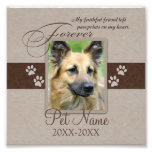 Forever Loved Pet Sympathy Photo Print