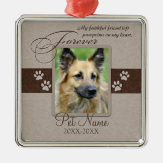 Forever Loved Pet Sympathy Silver-Colored Square Decoration