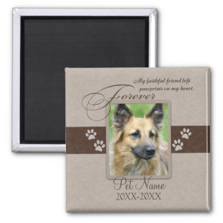 Forever Loved Pet Sympathy Square Magnet