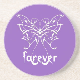 forever purple butterfly coaster