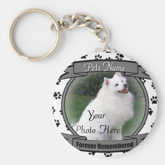 Forever Remembered Pet Memorial Basic Round Button Key Ring
