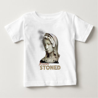 Forever Stoned Statue Smoking Baby T-Shirt