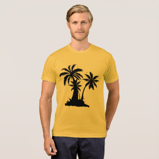 Forever Summer 365 Gold Black Palm Trees T-Shirt