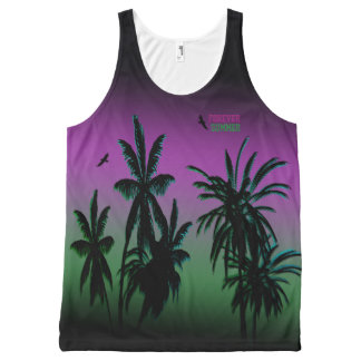Forever Summer Aurora Borealis Purple Sky Fade All-Over Print Tank Top
