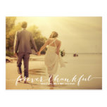Forever Thankful Photo Wedding Thank You Postcard