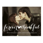 FOREVER THANKFUL SCRIPT | WEDDING POST CARD