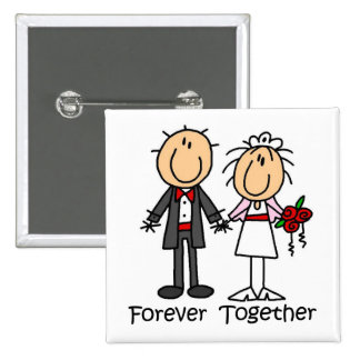 Forever Together T-shirts and Gifts Pinback Button