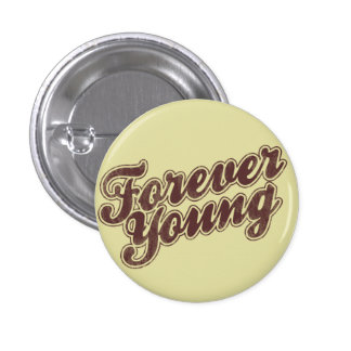 Forever Young Retro Flair 3 Cm Round Badge