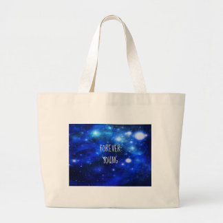 Forever Young Space Galaxy Canvas Bags