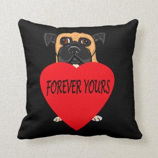 """Forever Yours"" dog custom pillows"