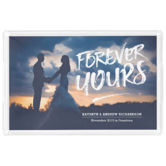 Forever Yours Dry Brush Typography Photo Template