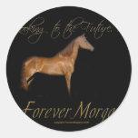 ForeverMorgans Rescue Horse Kramer Round Stickers