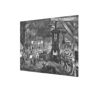 Forge of the Derosne and Cail Company, Canvas Print